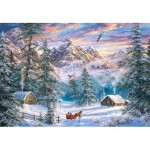 Puzzle  Castorland-104680 Mountain Christmas