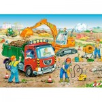 Puzzle  Castorland-13180 Chantier de Construction