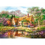 Puzzle  Castorland-300365 Twilight at Woodgreen Pond