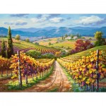 Puzzle  Castorland-300587 Vineyard hill