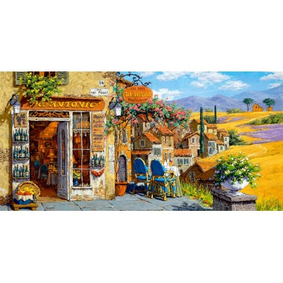 puzzle colors of tuscany castorland 400171 4000 pi ces puzzles villes et villages planet 39 puzzles. Black Bedroom Furniture Sets. Home Design Ideas