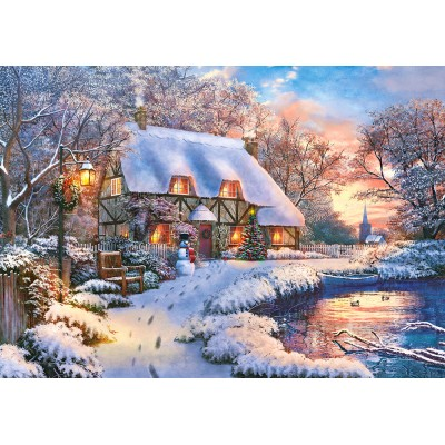Puzzle Castorland-53278 Winter Cottage