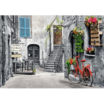 Puzzle Castorland-53339 Charming Alley with Red Bicycle