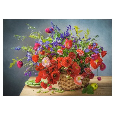 Puzzle Castorland-53506 Bouquet with Poppies