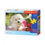 Puzzle  Castorland-B-007165 Chiot White Terrier
