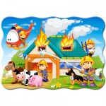 Puzzle  Castorland-B-03525 Fire Brigade in Action
