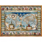 Puzzle   Map of The World, 1639