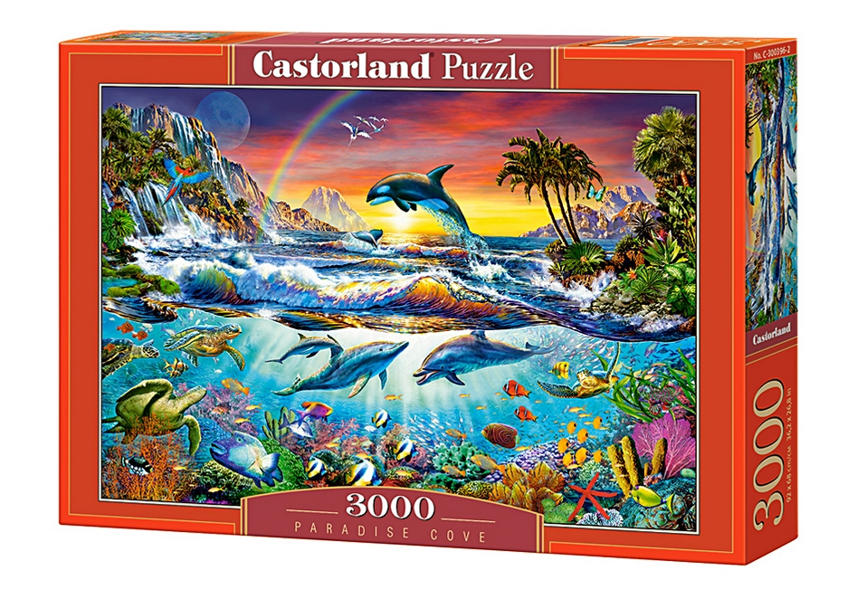puzzle paradise cove castorland 300396 3000 pi ces puzzles animaux marins planet 39 puzzles. Black Bedroom Furniture Sets. Home Design Ideas