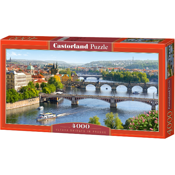 puzzle r publique tch que prague pont vltava castorland 400096 4000 pi ces puzzles villes. Black Bedroom Furniture Sets. Home Design Ideas