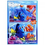Clementoni-07127 2 Puzzles - Finding Dory