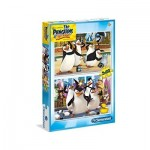 Clementoni-07129 2 Puzzles - The Pinguins of Madagascar