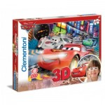 Puzzle  Clementoni-20044 Effet 3D - Cars 2 : Internationale Porto Corsa