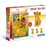 Clementoni-20158 The Lion King (Puzzle + Modèle 3D)