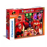 Puzzle  Clementoni-23723 Pièces XXL - The Incredibles 2