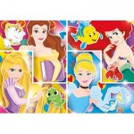 Clementoni-27146 Disney Princess-Supercolor Puzzle