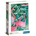 Puzzle  Clementoni-35101 Flamingoes