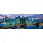 Clementoni-39209 Puzzle Panoramique - New York : Pont de Brooklyn