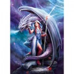 Puzzle  Clementoni-39525 Anne Stokes : Dragon Mage