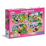 4 Puzzles - Mickey Mouse & Friends