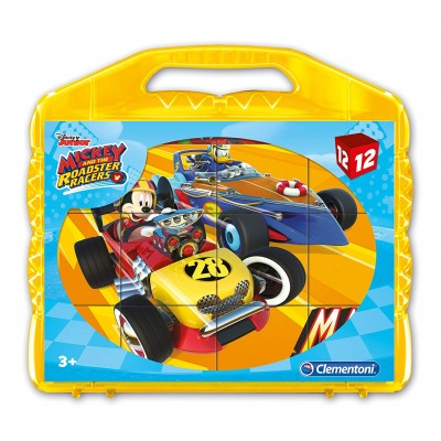 Clementoni-41183 Puzzle Cubes - Mickey and the Roadster Racers