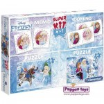 Super Kit 4 in 1 - La Reine des Neiges - 2 Puzzles + Memo + Domino