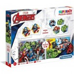 Superkit 4 en 1 - The Avengers (2 Puzzles + Memory + Domino)