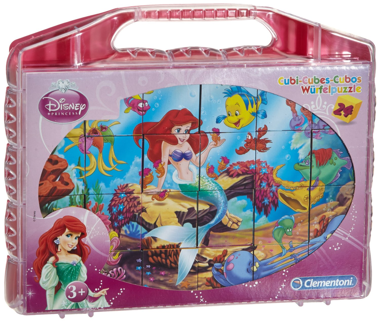 puzzle cubes ariel la petite sir ne clementoni 42421 24 pi ces puzzles autres disney. Black Bedroom Furniture Sets. Home Design Ideas