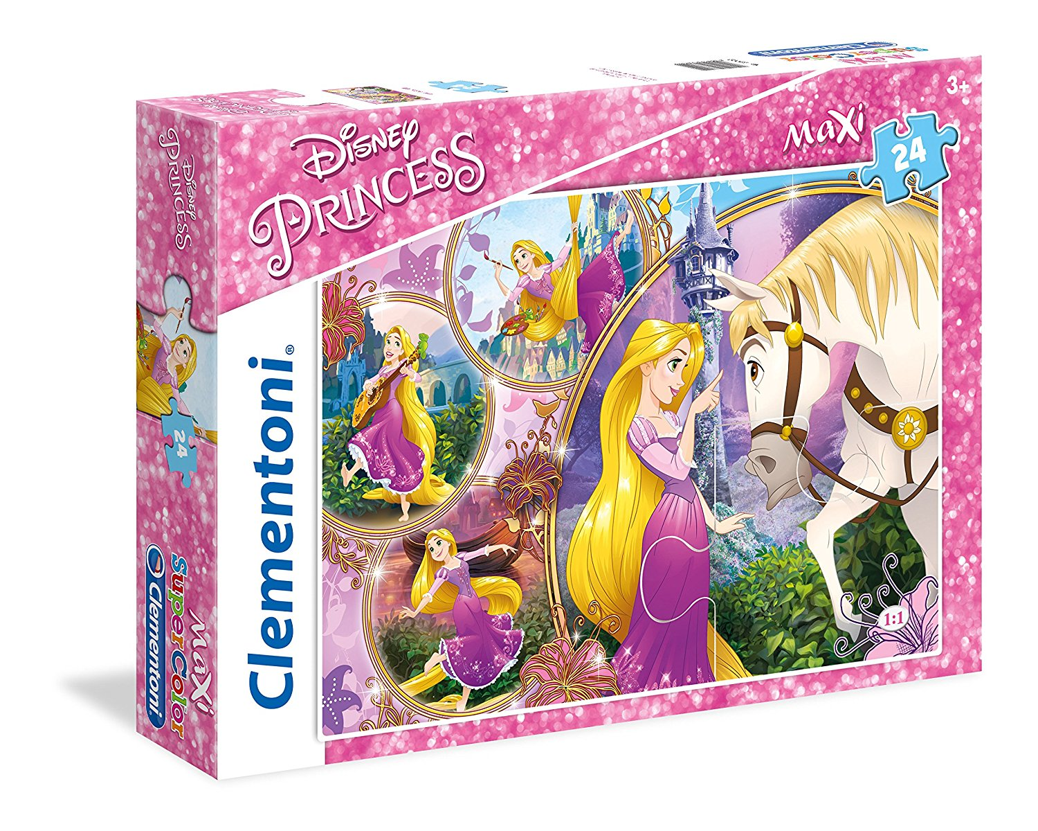 puzzle g ant de sol disney princess clementoni 23702 24 pi ces puzzles princes et princesses. Black Bedroom Furniture Sets. Home Design Ideas