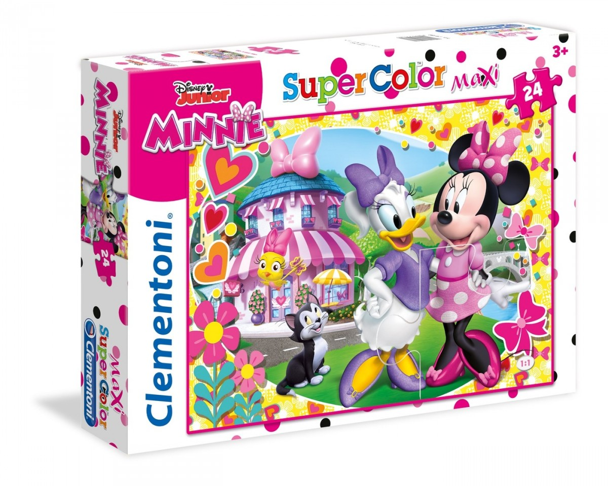 puzzle g ant de sol minnie clementoni 24480 24 pi ces puzzles mickey et minnie planet 39 puzzles. Black Bedroom Furniture Sets. Home Design Ideas