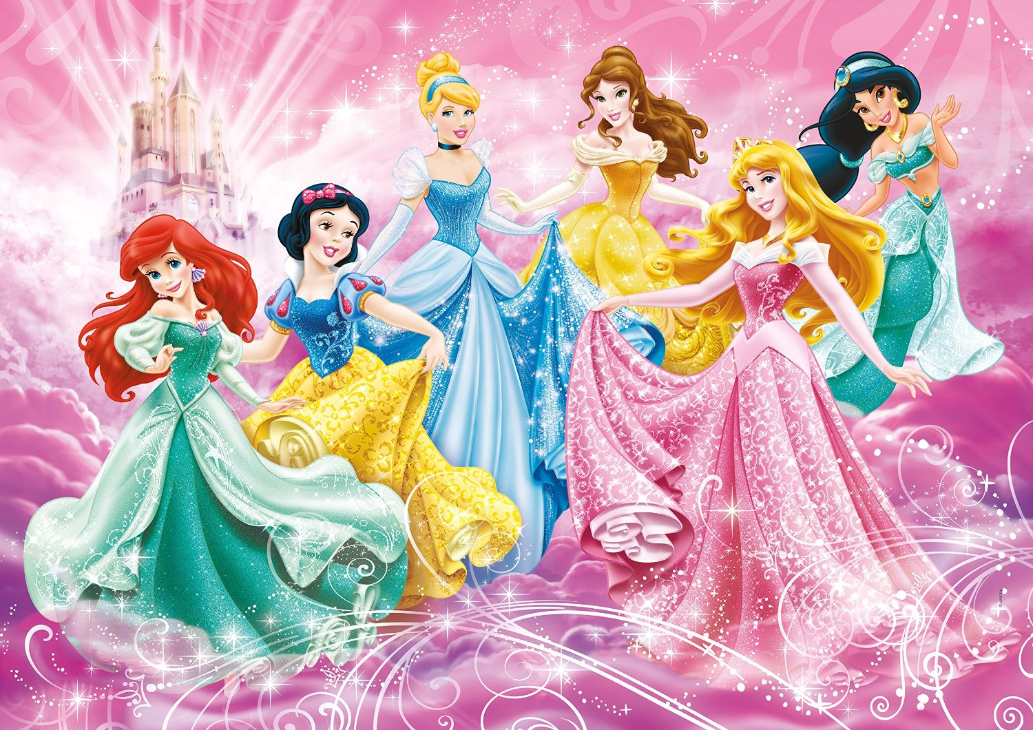 puzzle xxl disney princesses clementoni 24466 24 pi ces puzzles princes et princesses. Black Bedroom Furniture Sets. Home Design Ideas