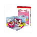 Cubic-Fun-C051-03H Puzzle 3D - Honey Room : Chambre (Difficulté : 3/8)