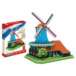 Cubic-Fun-MC219h Puzzle 3D - Moulin de Hollande (Difficulté: 5/6)