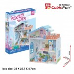 Cubic-Fun-P683h Puzzle 3D - Seaside Village (Difficulté: 4/6)