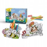 Cubic-Fun-P694h Puzzle 3D - Porte-stylo Abeille et Cadre Photo Escargot
