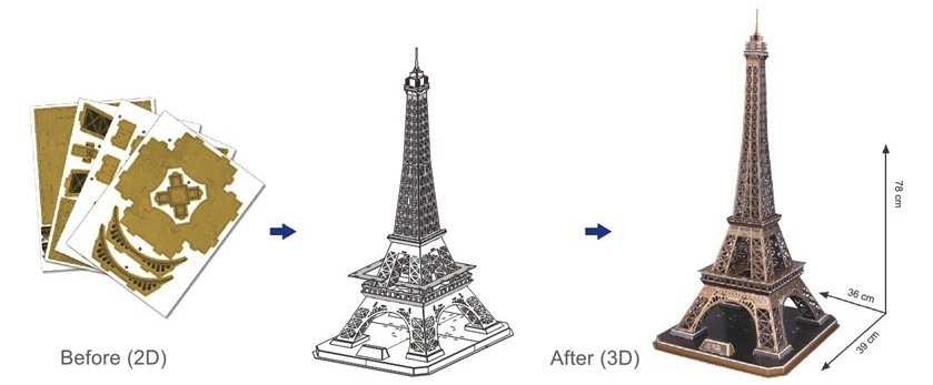 puzzle 3d france paris tour eiffel cubic fun mc091h 82 pi ces puzzles monuments planet. Black Bedroom Furniture Sets. Home Design Ideas