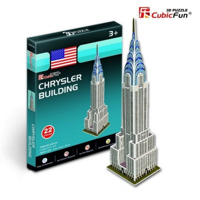 Cubic-Fun-S3013H Puzzle 3D Série Mini - Etats-Unis, New-York : Chrysler Building (Difficulté 2/8)