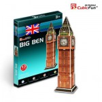 Cubic-Fun-S3015H Puzzle 3D Série Mini - Royaume Uni, Londres : Big Ben (Difficulté 2/8)