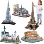 Cubic-Fun-Set-LED-Deluxe 5 Puzzles 3D LED Deluxe