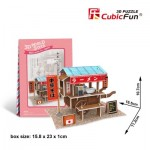 Cubic-Fun-W3103h Puzzle 3D World Style - Welcome to Japan