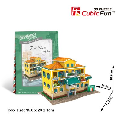 Cubic-Fun-W3113H Puzzle 3D World Style - Welcome to Italy