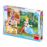 3 Puzzles - Disney Princess