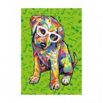 Puzzle  Dino-47220 Pièces XXL - Puppy with Glasses