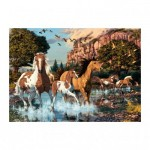 Dino-53264 Secret Puzzle - Chevaux