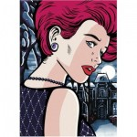 Puzzle  Dino-53271 Pop Art - Mysterious Woman