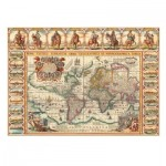Puzzle  Dino-56106 Carte du Monde Antique