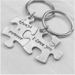 Puzzle  Key-004 2 Porte-clés - Always & Forever / I Love You