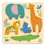 Djeco-01052 Puzzle en Bois - Woodyjungle