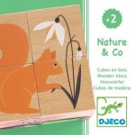 Djeco-01902 Puzzle Cubes en Bois - Nature & Co