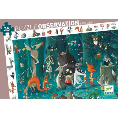 Djeco-07588 Puzzle Observation - L'Orchestre