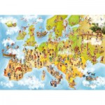 Puzzle  Deico-Games-76120 Cartoon Collection - Carte de l'Europe